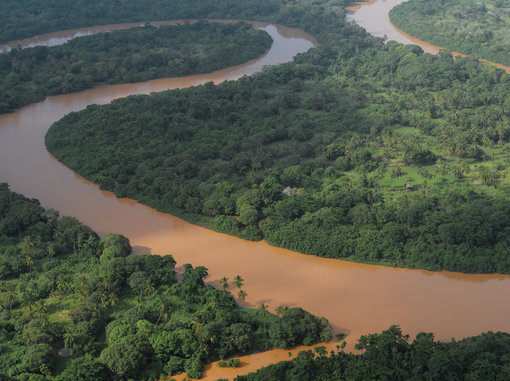 Aerial view of the River Tana Delta.  Image Courtesy of David Beatty