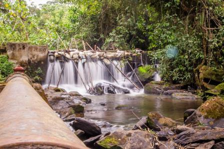 View of small falls in Kimungu River Lodge.  Photo Courtesy of Booking