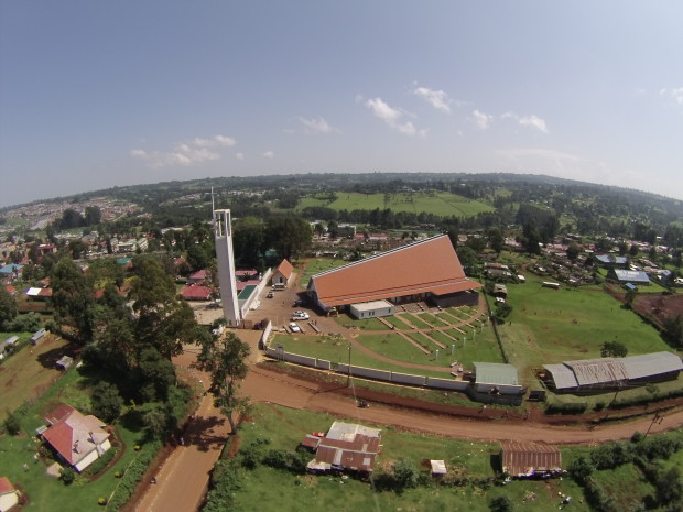 Aerial view of the Sacred Heart Cathedral in Kericho.  Photo Courtesy of COD Aworx