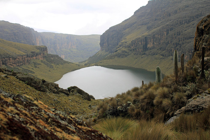 View of Lake Michaelson in Mt. Kenya National Park.  Photo Courtesy