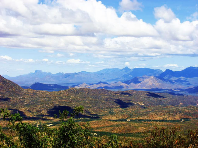 View of the Ndoto Mountain Range.  Image Courtesy of Samburu Primate Research