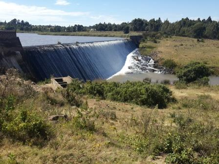 View of Two Rivers Dam on Eldoret-Naiberi-Kaptagat Road.  Photo Courtesy of Eldoret Press