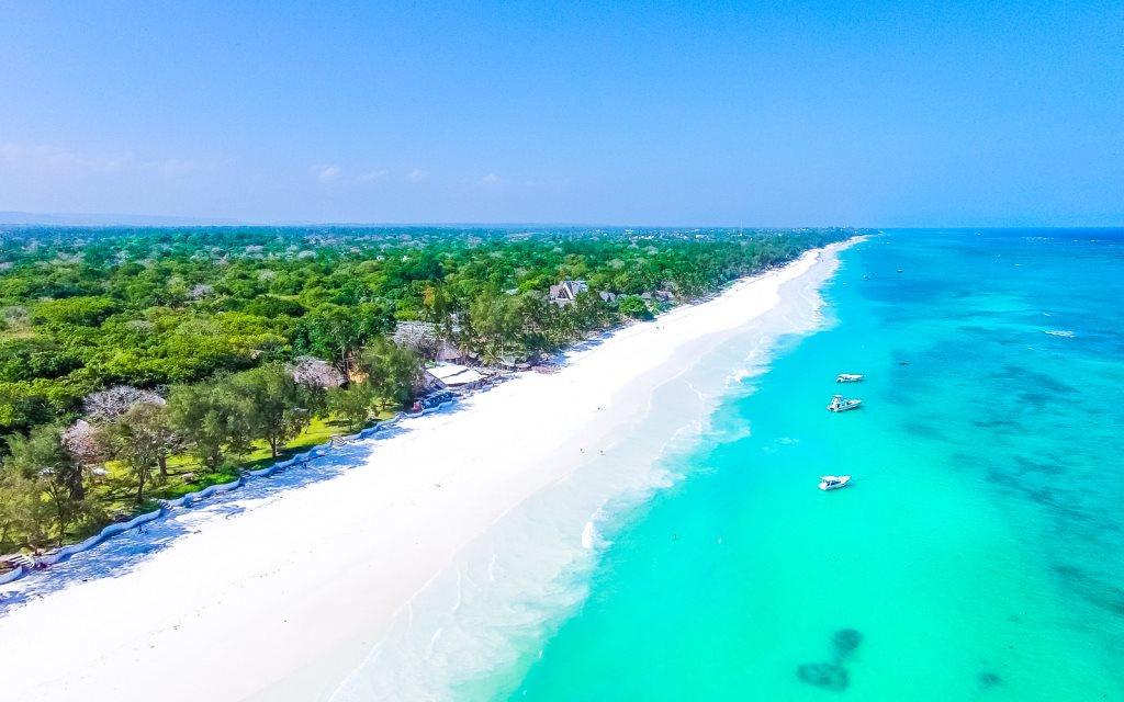 View of Diani Beach at the Sands at Nomad Hotel.  Photo Courtesy of Sands at Nomad