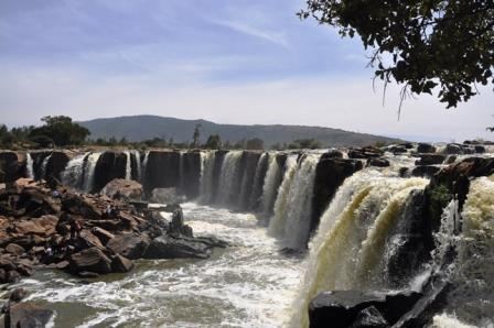 View of Fourteen Falls near Thika.  Photo Courtesy of Africa Geographic
