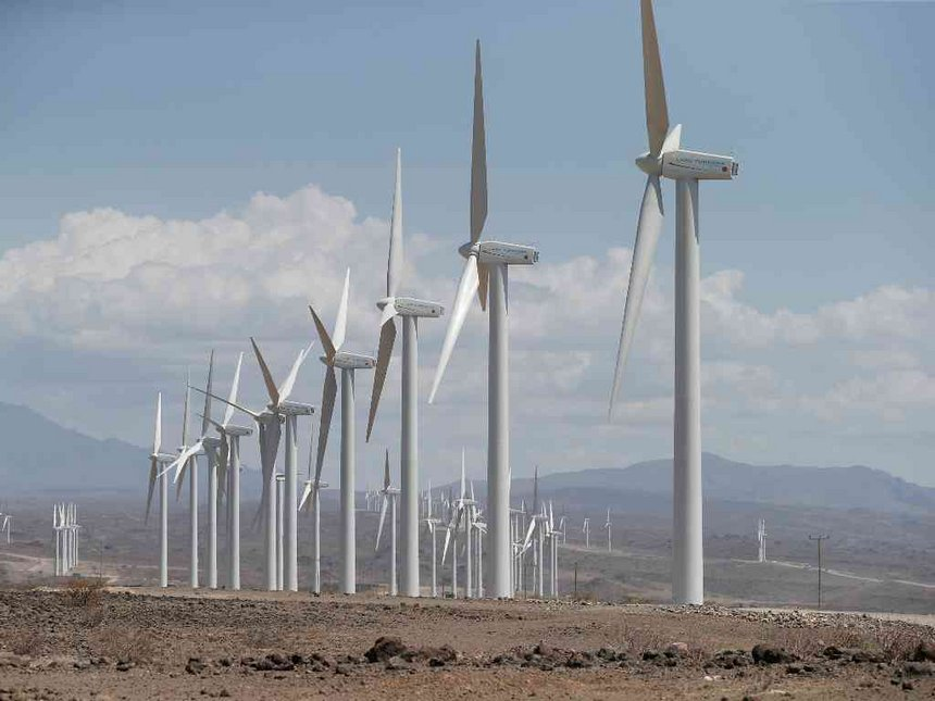 View of the Lake Turkana Wind Project.  Photo Courtesy of Construction Review