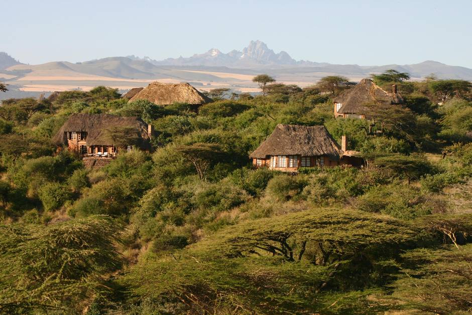 View of Mount Kenya from Lewa Conservancy.  Photo Courtesy