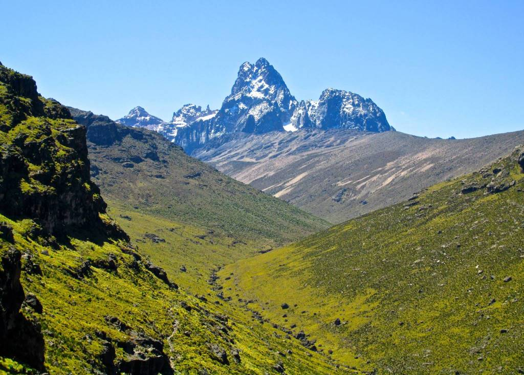 A view of Mount Kenya through the Kamweti Route in Gichugu Constituency