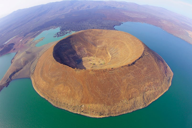 Aerial view of the Nabuyatom Cone.  Photo Courtesy of Martin Harvey
