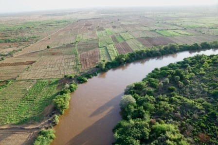 Aerial View of River Daua and farmlands.  Photo Courtesy of County Review