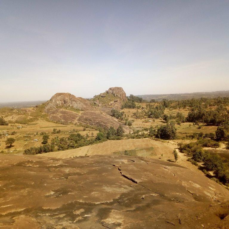 View of the Mawe Tatu Hill.  Photo Courtesy of Joe Karanja