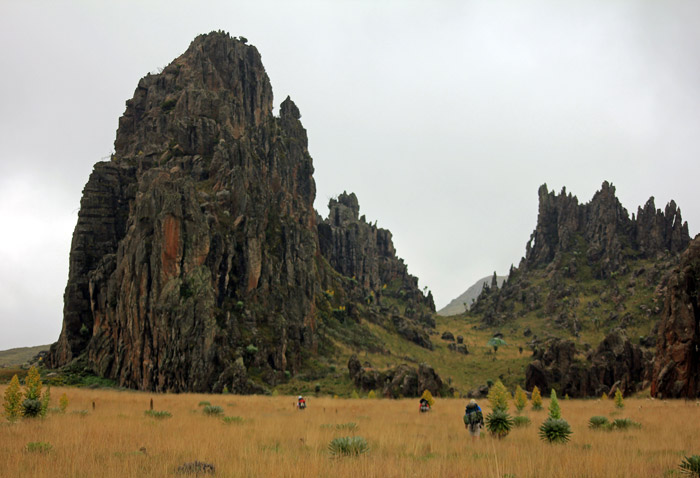 View of the Dragon's Teeth along Satima Trail.  Photo Courtesy of Africa Geographic
