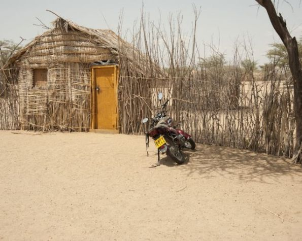 View of a traditional homestead in Turkana County.  Photo Courtesy of Pulitzer Centre