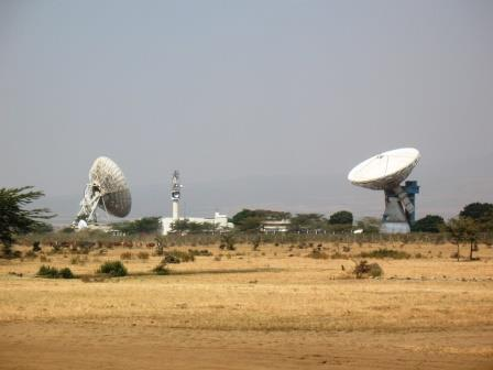 View of the satellites in the Longonot Earth Station en-route Narok Town.  Photo Courtesy