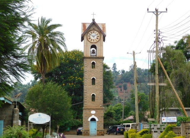 View of an Old Clock Tower within the Consolata Mathari Hospital.  Photo Courtesy