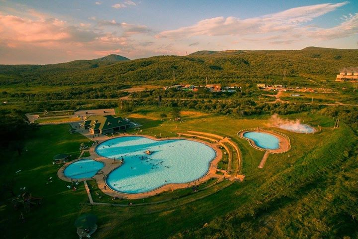 Aerial view of the Olkaria Geothermal Spa in Hell's Gate National Park.  Photo Courtesy