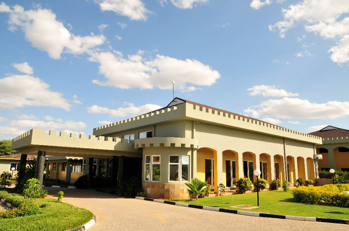 Entrance at the Almond Resort near Garissa Town.  Photo Courtesy
