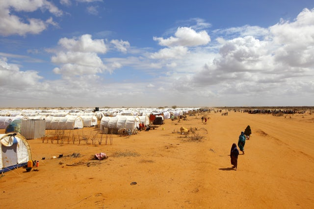 A section of Daadab Refugee Camp.  Photo Courtesy of Newd Deeply