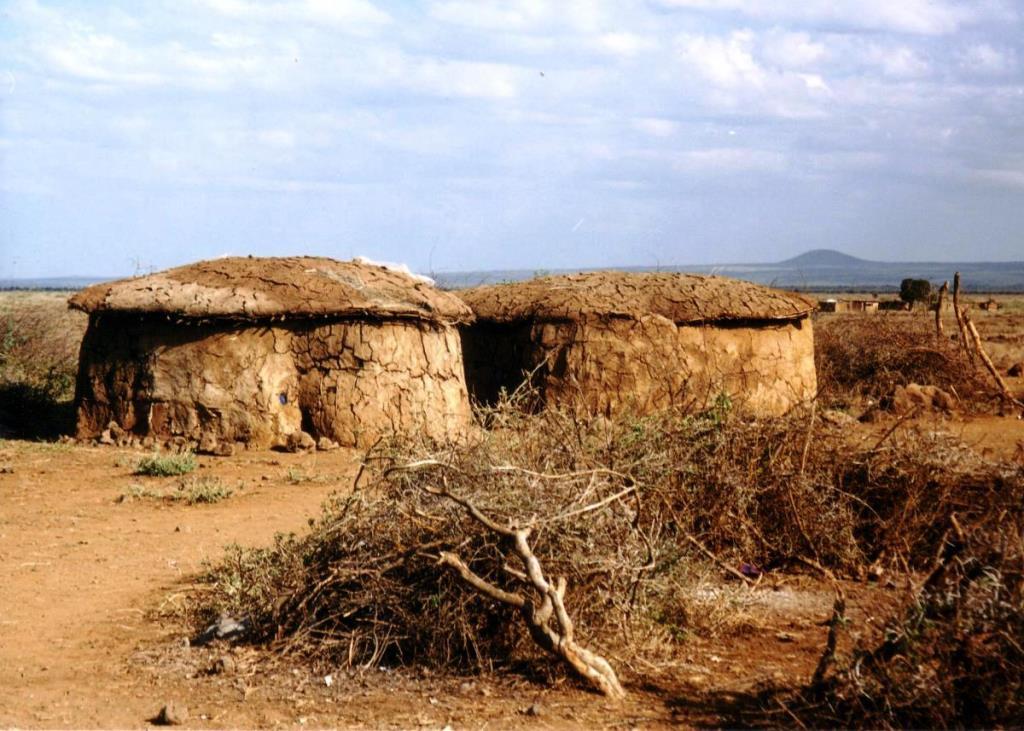The atypical Maasai Manyattas.  Image Courtesy of Exploring Africa