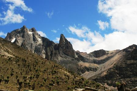 View of Batian Peak at Mount Kenya National Park World Heritage Site in Kenya.  Photo Courtesy