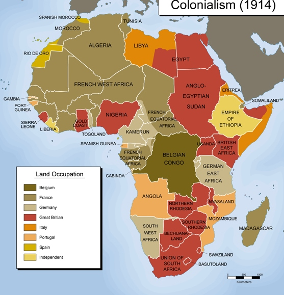 The Partitioning of Africa by the Nations of Europe.  Photo Courtesy