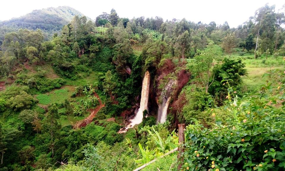 View of Nthenge Njeru Fall from Melody Eco-Lodge.  Photo Courtesy