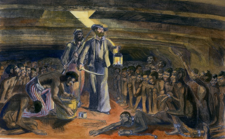 Artist impression of the trans-Atlantic slave trade in West Africa.  Photo Courtesy