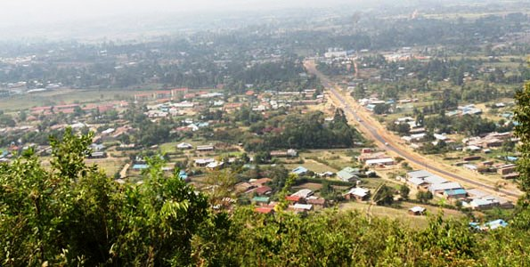 View from Chetambe's Fort overlooking Webuye.  Photo Courtesy of Nation Media