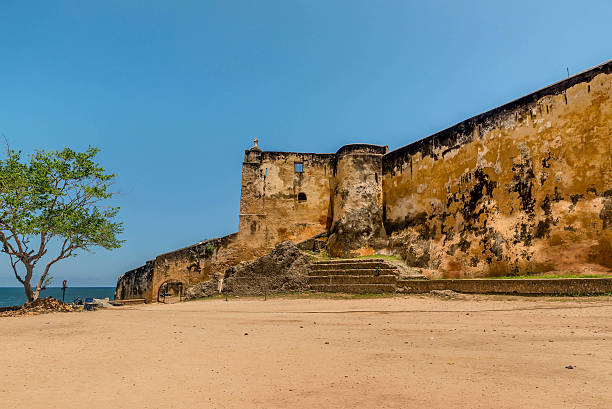 Defensive wall of Fort Jesus in Mombasa, Kenya.  Photo Courtesy