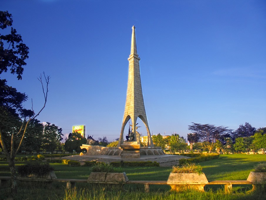 Freedom Monument at Uhuru Gardens in Nairobi.  Photo Courtesy