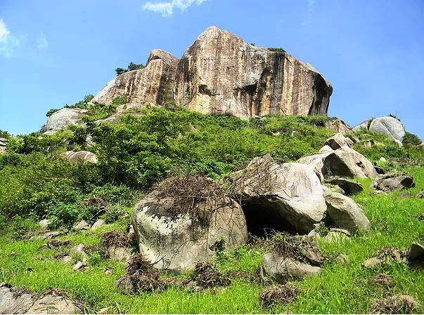 View of the conspicuous Kakapel Rock at Amagoro.  Photo Courtesy