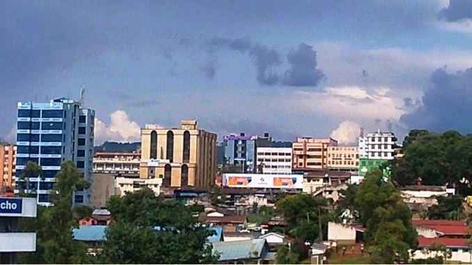 A section of Kisii Town.  Photo Courtesy of Aptantech