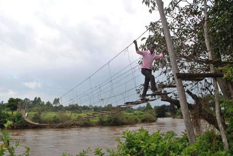 Kumfunje Bridge in Maraka Village.  Photo Courtesy of Standard Media