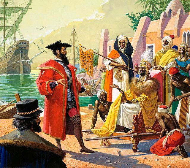 Artist impression of European Arrival in Africa.  Photo Courtesy
