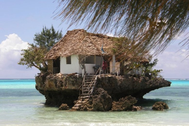 "The tiny ""Rock Hotel"" in Zanzibar Island, Tanzania.  Photo Courtesy."
