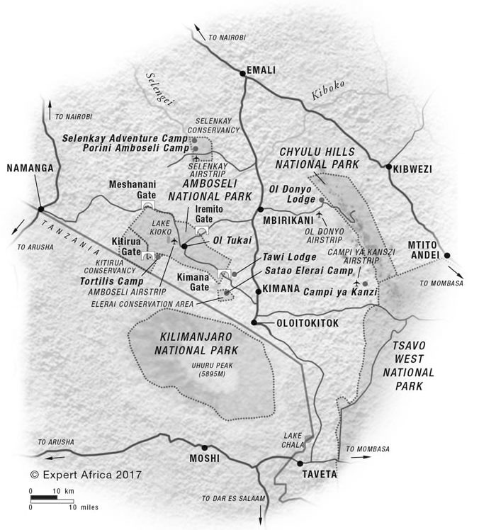 Map of Amboseli National Park Courtesy of Expert Africa
