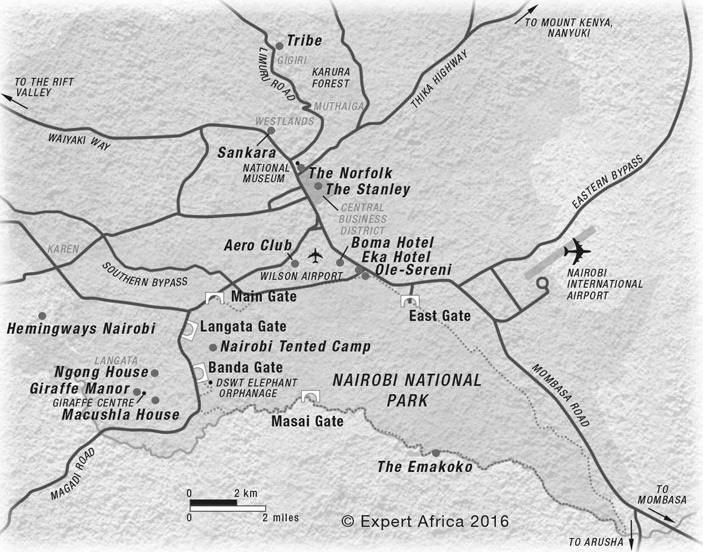 Map of Nairobi National Park Courtesy of Expert Africa