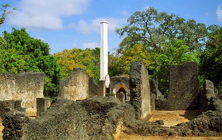 View of Mnarani Ruins in Kilifi County.  Photo Courtesy of PlanetWare
