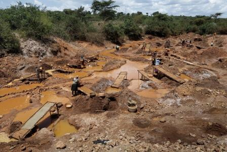 Section of the Maclader Gold Mines.  Photo Courtesy of ENCA