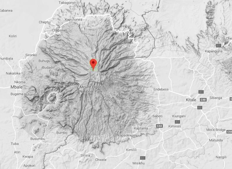 Topography and spatial location of Mount Elgon.