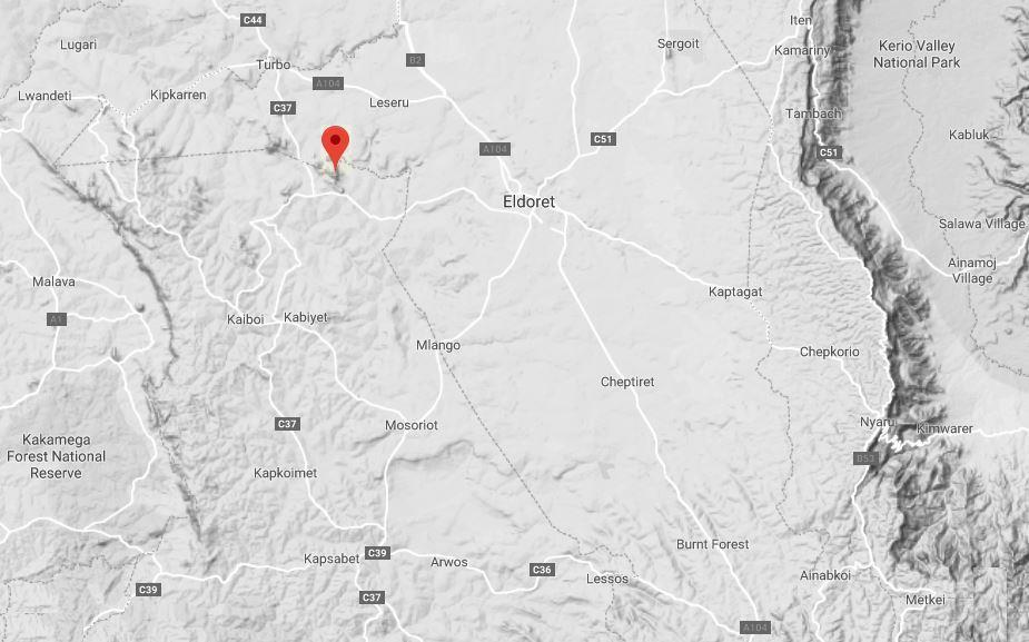 Spatial Location of Ndalat Hills in Uasin Gishu County