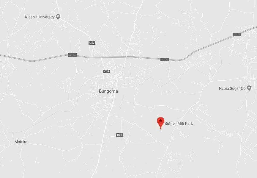 Spatial Location of Buteyo Miti Park in Bungoma County