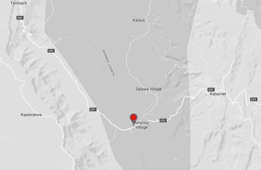 Location of Chebloch Gorge in Baringo County