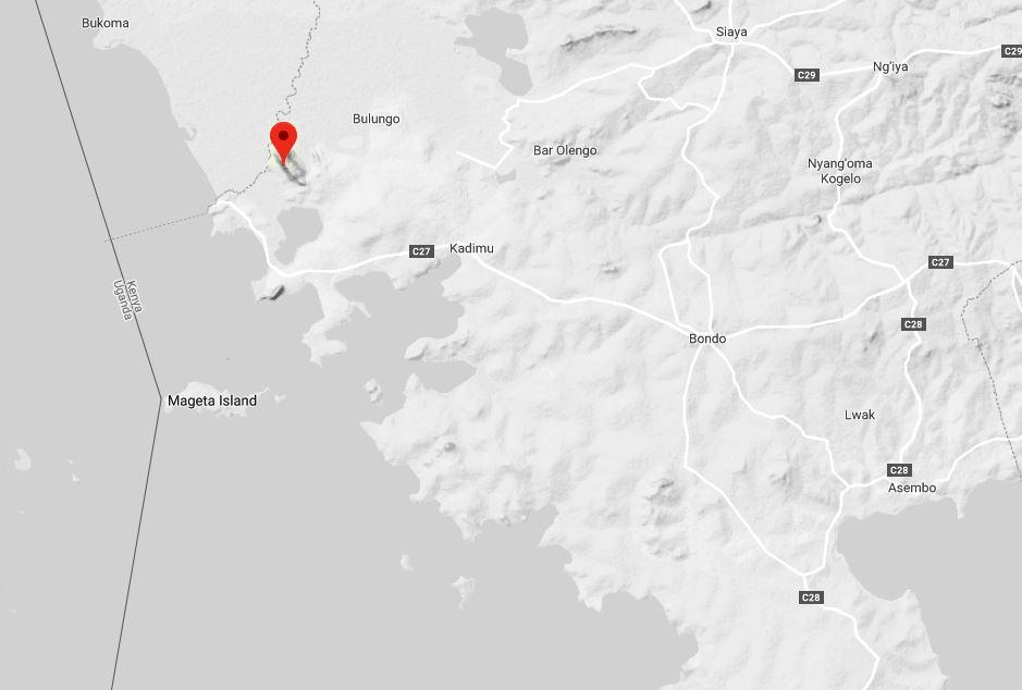 Spatial Location of Got Ramogi or Ramogi Hill