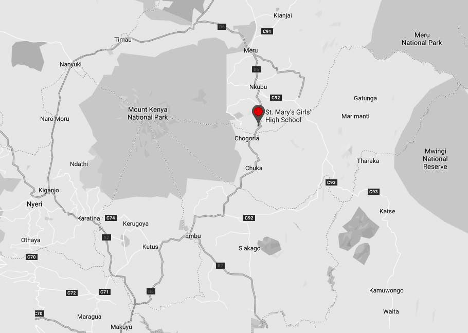 Spatial Location of St. Mary's School at Ijogi in Meru County