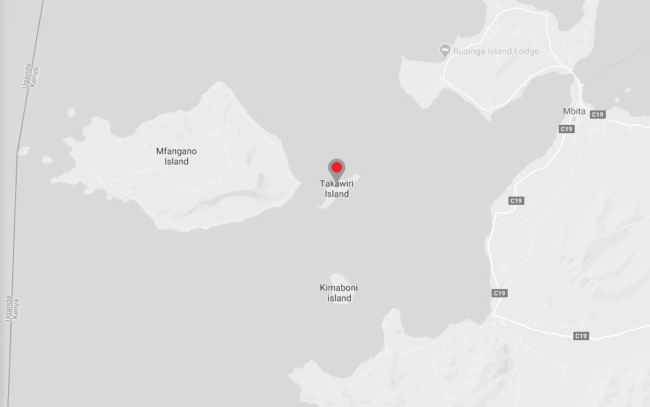 Spatial Location of Takawiri Island in Homa Bay County