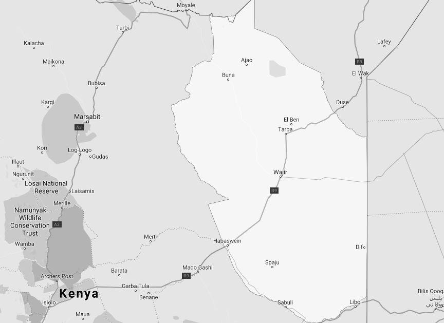 Wajir County Map