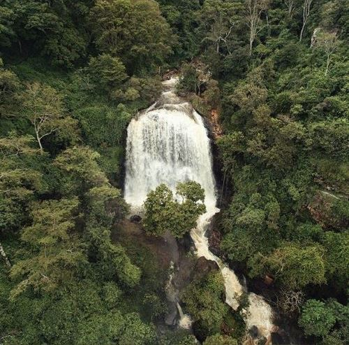 Aerial View of Kessup Waterfall in Kessup Forest. Courtesy of Ochokitours