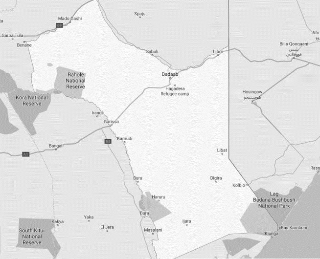 Garissa County Map