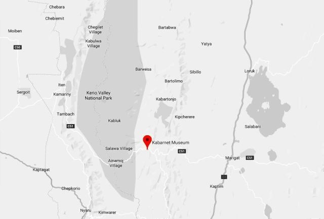 Spatial Location of Kabarnet Museum in Baringo County