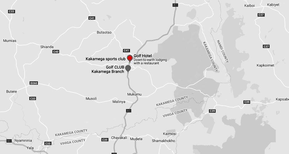 Spatial Location of Kakamega Sports Club in Kakamega County